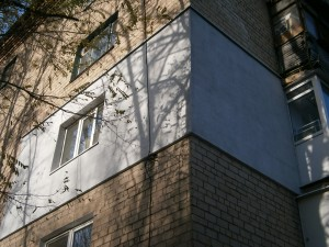 Наружное утепление стен квартир в Донецке